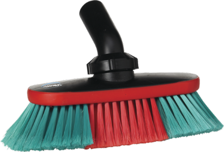Vikan Vehicle Brush, waterfed, 250 mm, Soft/split, Black